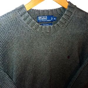 Polo by Ralph Lauren Pullover Sweater Olive Sz XL